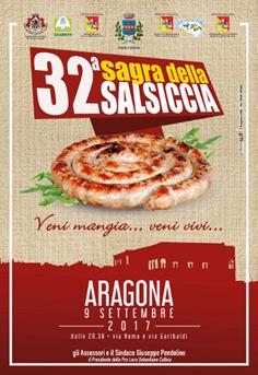 32° SAGRA DELLA SALSICCIA – – ARAGONA 9 SETTEMBRE 2017