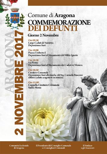COMMEMORAZIONE DEI DEFUNTI 2 NOVEMBRE 2017