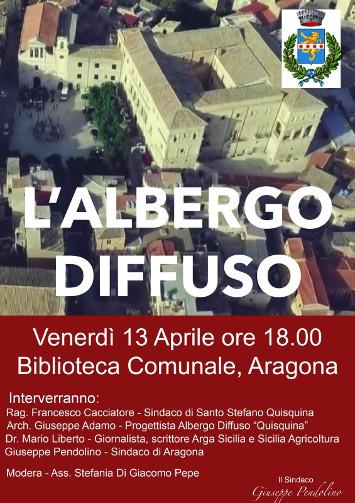 Convegno su Albergo Diffuso -Venerdì 13 c.m. alle ore 18.00 presso Biblioteca Comunale