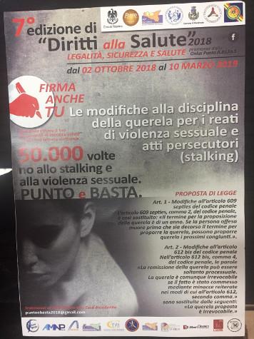 Presso il comune di Aragona, ufficio elettorale, è possibile apporre una firma per dire 50.000 volte no allo Stalking e alla violenza sessuale.   Per firmare il modulo, è obbligatorio presentare un documento di identità in corso di validità
