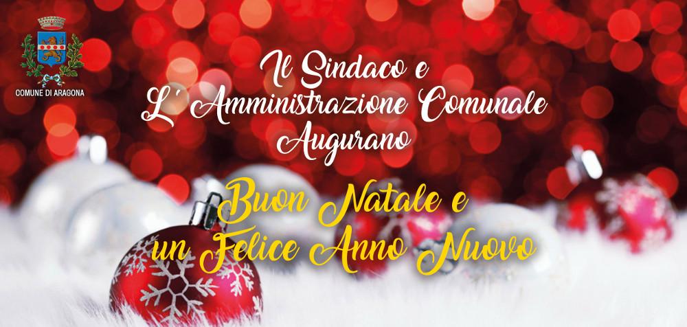 Auguri del Sindaco  alla cittadinanza per le festività natalizie e per inizio nuovo anno